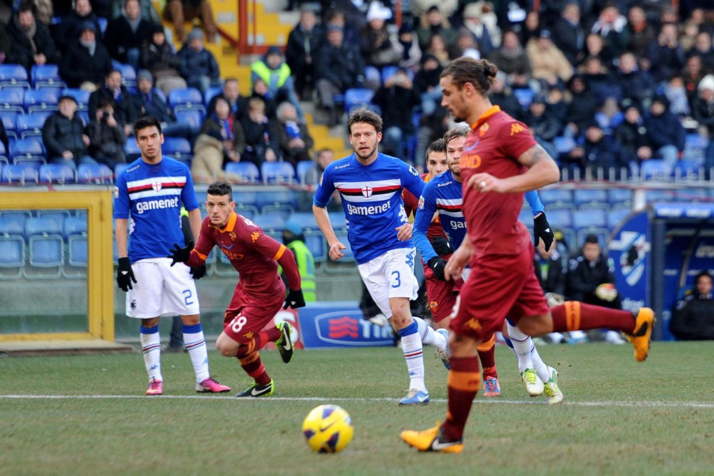 Sampdoria vs Roma - Serie A tim 2012/2013