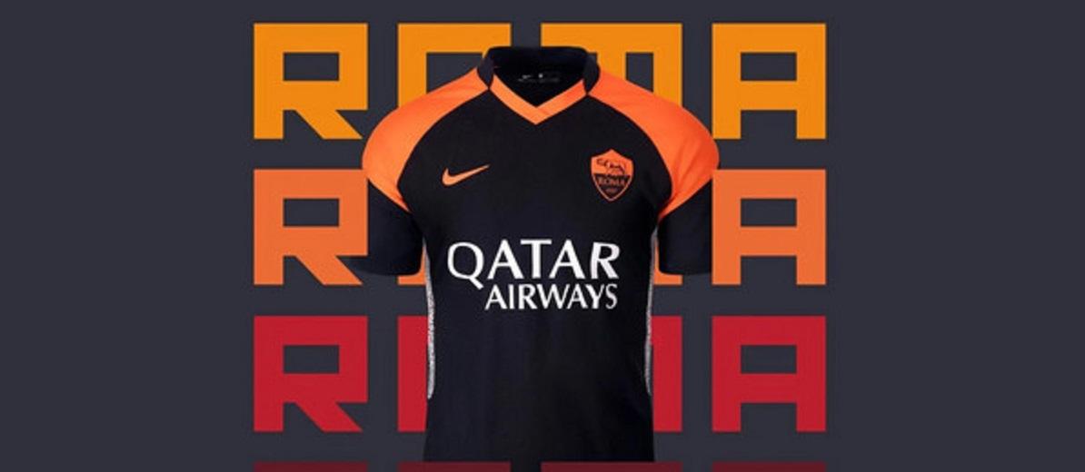 Roma, svelata la terza maglia: sarà nera con maniche arancioni, in ...