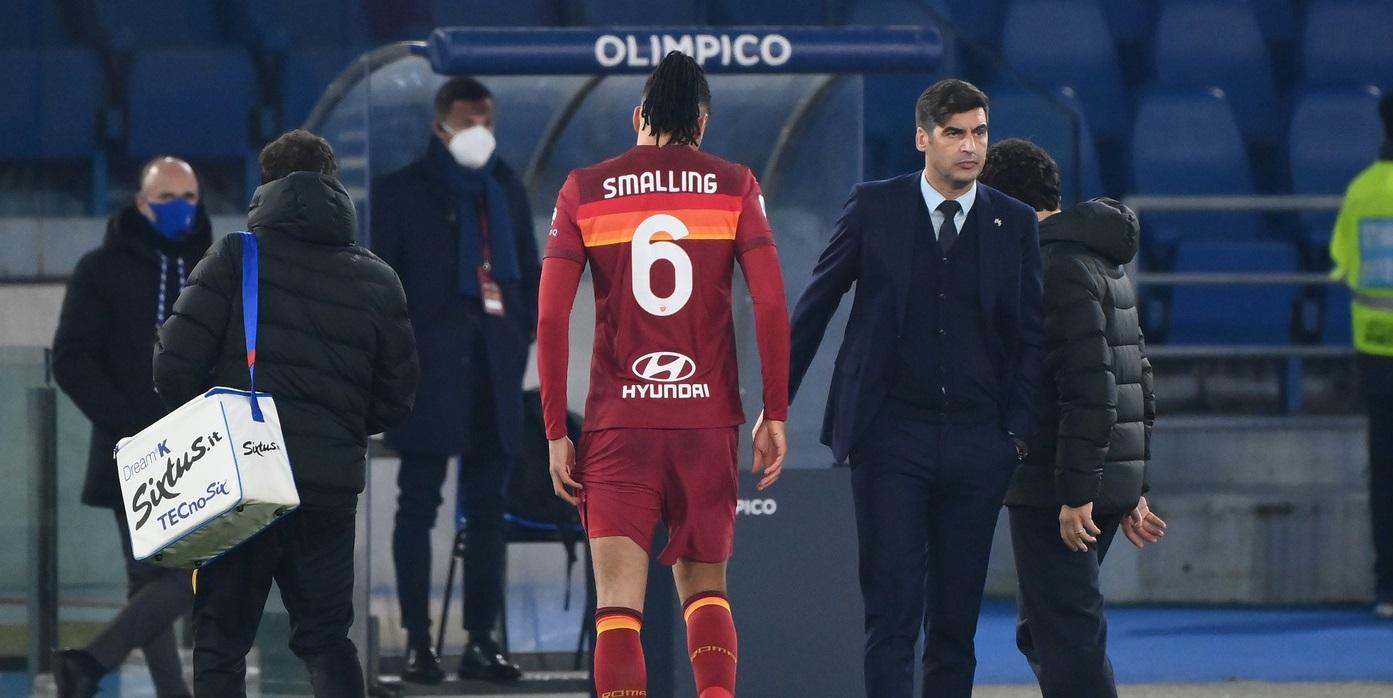 Tegola Roma, infortunio per Smalling: non ci sarà con la Juve